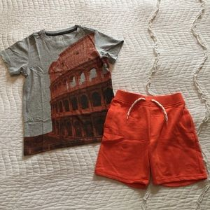 Tea Collection Size M 6-7 Coliseum Italy Shirt